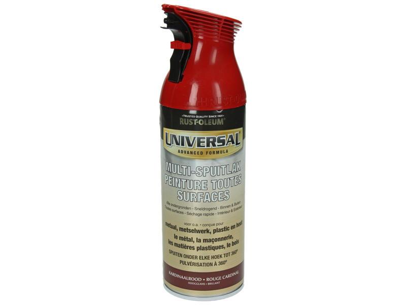 Laque en spray toutes surfaces universal brillant 0,4l rouge cardinal