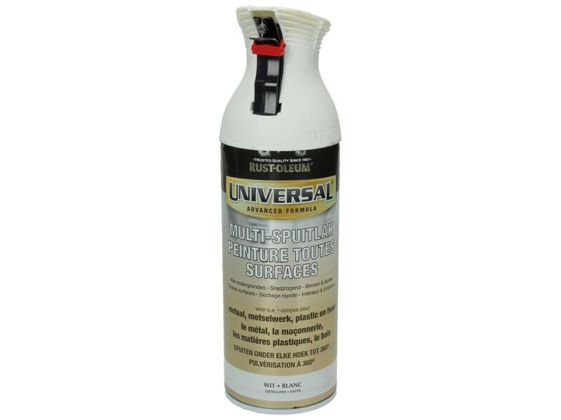Laque en spray toutes surfaces universal satiné 0,4l blanc
