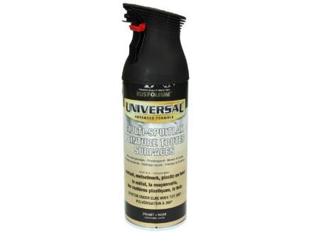 Laque en spray toutes surfaces universal satiné 0,4l noire