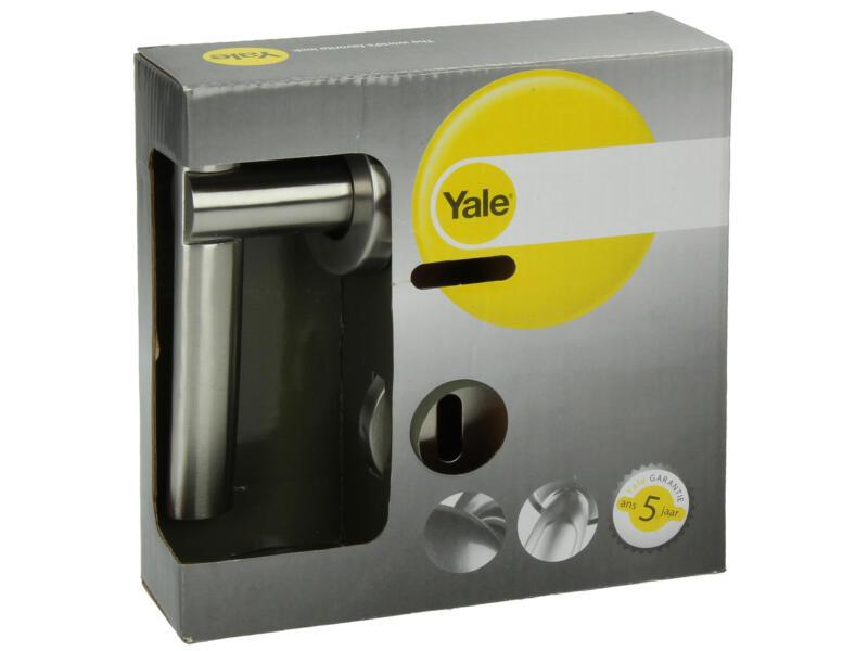 Yale Laser BB deurklinkset op rozet 54mm inox