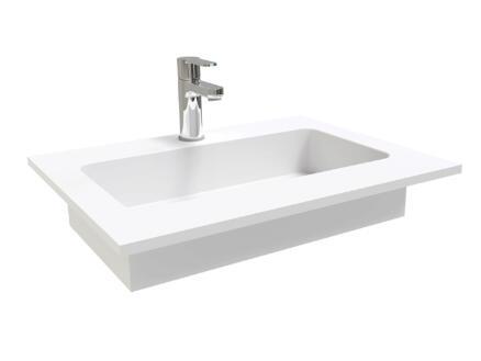 Lavabo encastrable 60cm solid surface