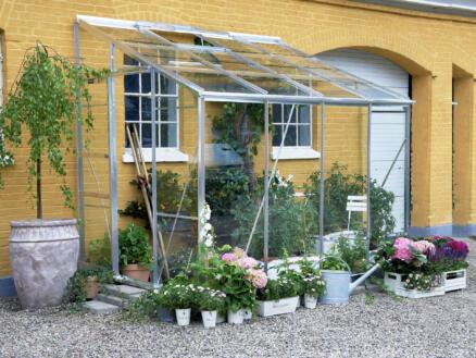 Halls Lean-To 608 serre adossée verre horticole