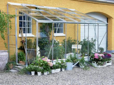 Halls Lean-To 612 serre adossée verre horticole