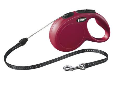 Flamingo Leiband Flexi Classic touw M 5m rood