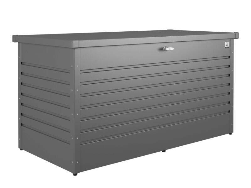 Biohort LeisureTime Box 160 coffre de jardin 159x79x83 cm gris foncé métallique