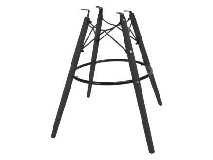 Practo Home Leksand pied de chaise 54x54x65 cm noir