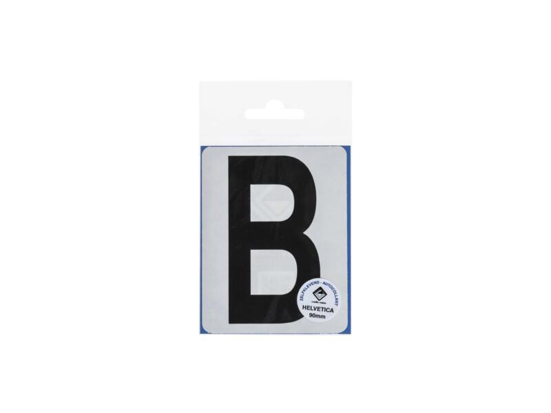 Lettre autocollante B 90mm noir mat