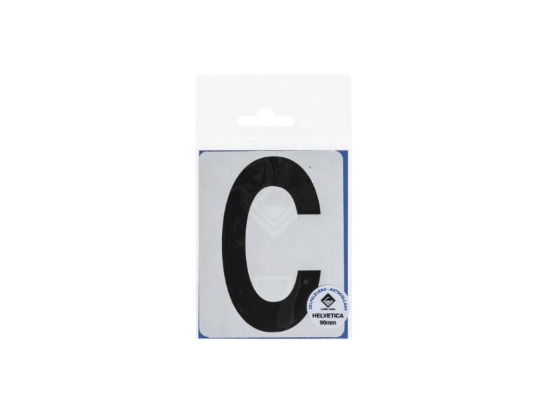 Lettre autocollante C 90mm noir mat