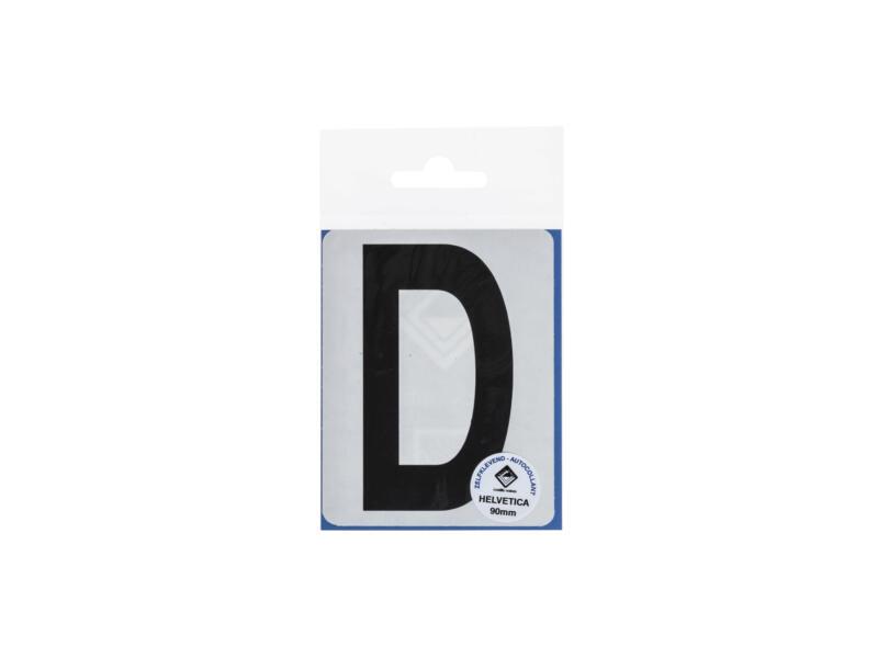 Lettre autocollante D 90mm noir mat