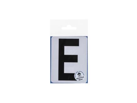 Lettre autocollante E 90mm noir mat