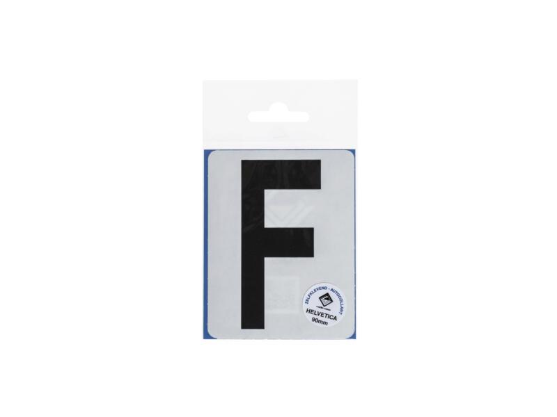 Lettre autocollante F 90mm noir mat