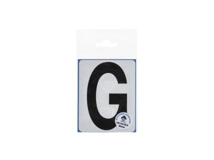 Lettre autocollante G 90mm noir mat