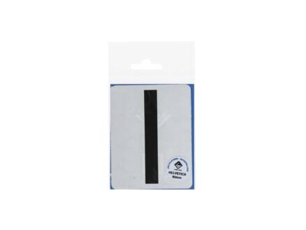 Lettre autocollante I 90mm noir mat