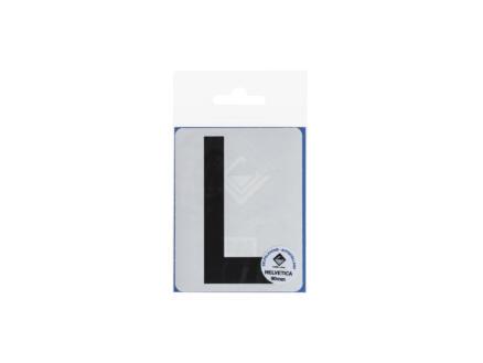 Lettre autocollante L 90mm noir mat