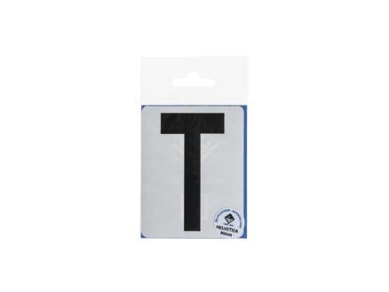 Lettre autocollante T 90mm noir mat