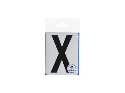 Lettre autocollante X 90mm noir mat