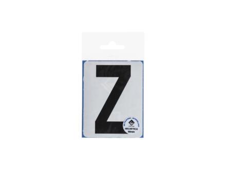 Lettre autocollante Z 90mm noir mat