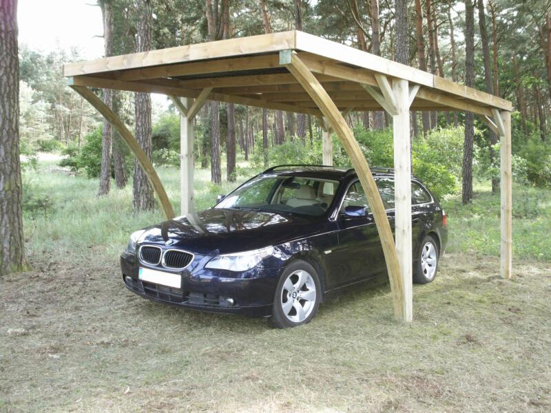 Gardenas Lido carport 300x500 cm hout