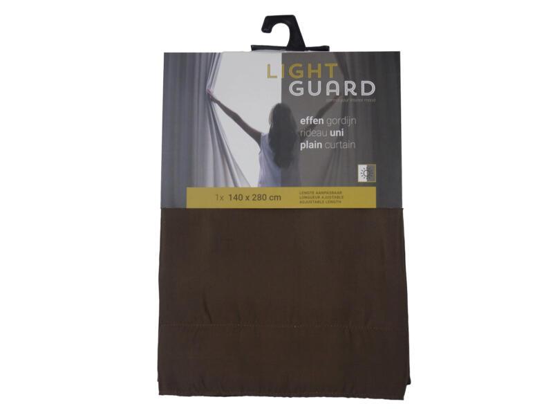 Finesse Light Guard gordijn 140x280 cm haak espresso