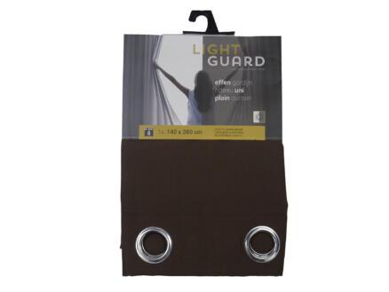 Finesse Light Guard gordijn 140x280 cm ring espresso