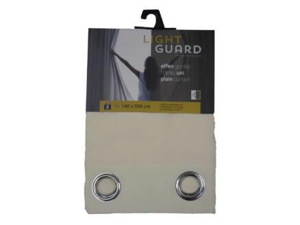 Finesse Light Guard rideau 140x280 cm œillet cream