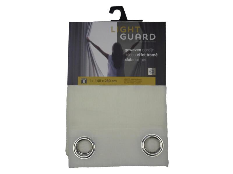 Finesse Light Guard rideau effet tramé 140x280 cm œillet cream