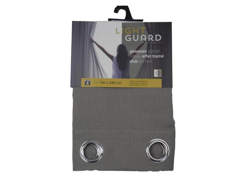 Finesse Light Guard rideau effet tramé 140x280 cm œillet flint