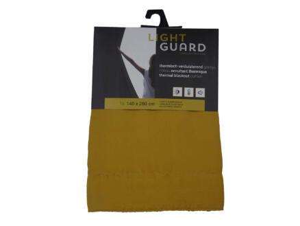 Finesse Light Guard rideau thermique occultant 140x280 cm crochet honey gold