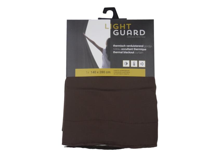 Finesse Light Guard thermisch gordijn verduisterend 140x280 cm haak espresso