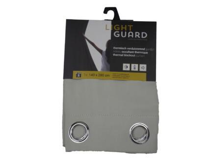 Finesse Light Guard thermisch gordijn verduisterend 140x280 cm ring cream