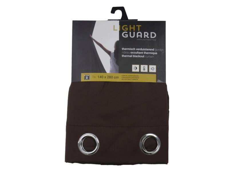 Finesse Light Guard thermisch gordijn verduisterend 140x280 cm ring espresso