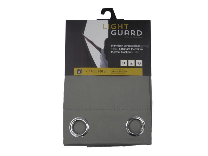 Finesse Light Guard thermisch gordijn verduisterend 140x280 cm ring flint