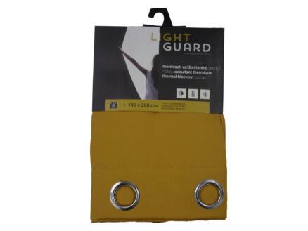 Finesse Light Guard thermisch gordijn verduisterend 140x280 cm ring honey gold
