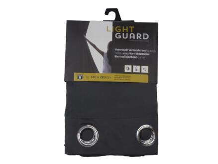 Finesse Light Guard thermisch gordijn verduisterend 140x280 cm ring iron