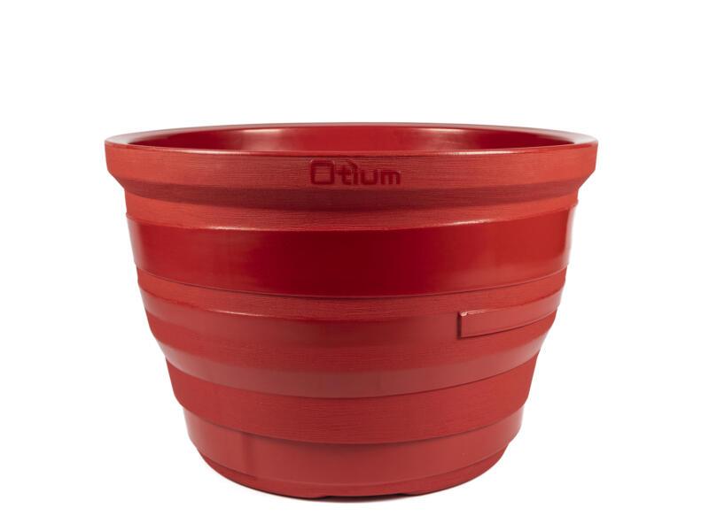 Lignum 55 bloempot 81cm rood