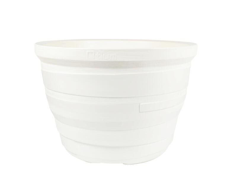 Lignum 55 pot à fleurs 81cm blanc