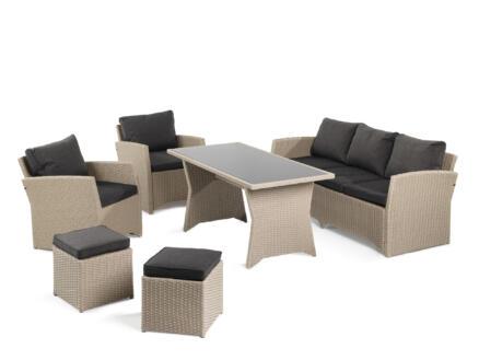 Garden Plus Limasol loungeset beige/donkergrijs