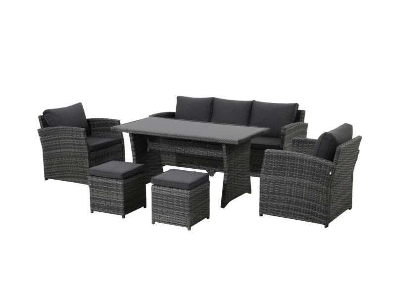 Limasol loungeset grijs