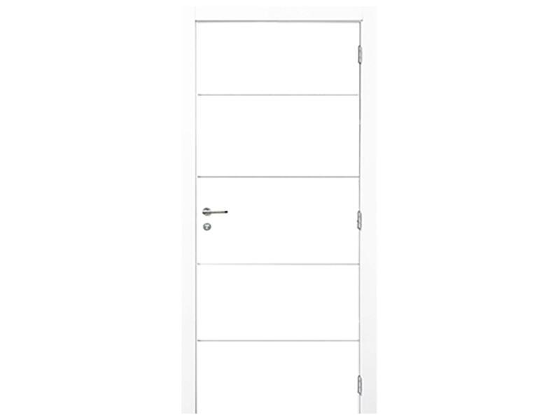 Solid Linee porte intérieure 201x68 cm 4 lignes blanc