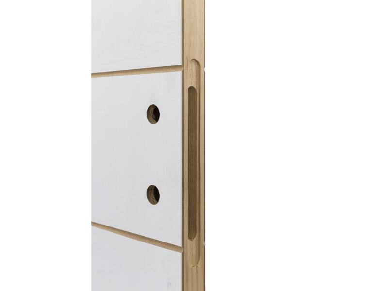 Solid Linee porte intérieure P001 201x68 cm 2 lignes blanc