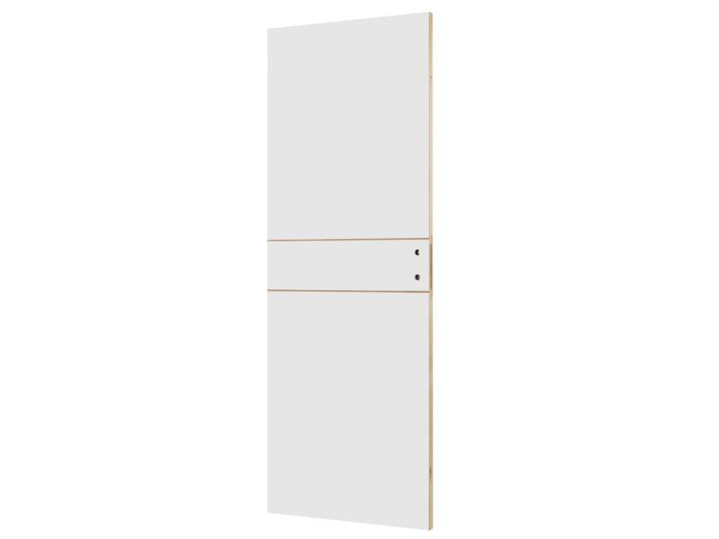 Solid Linee porte intérieure P001 201x73 cm 2 lignes blanc