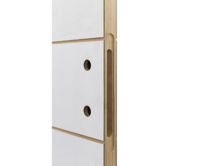Solid Linee porte intérieure P001 201x93 cm 2 lignes blanc