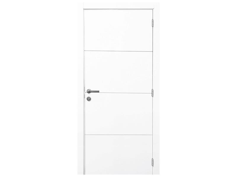 Solid Linee porte intérieure P002 201x63 cm 3 lignes blanc