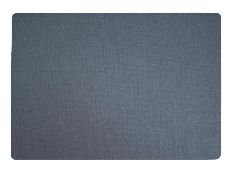 Finesse Lino placemat 43x30 cm steengrijs