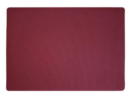 Finesse Lino set de table 43x30 cm rouge vin