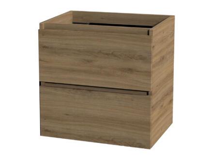 Tiger Loft meuble lave-mains 60x45 cm 2 tiroirs chêne chalet