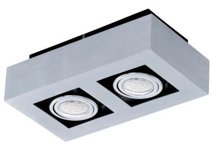 Eglo Loke 1 plafonnier LED GU10 2x5 W chrome