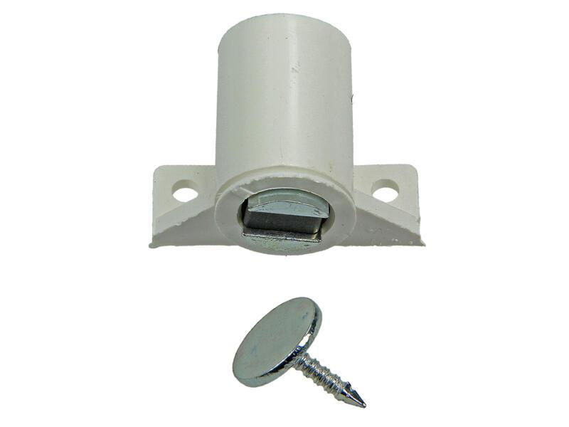 Loqueteau magnétique avec vis 2 pièces blanc