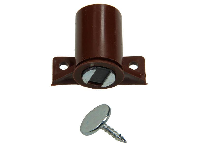 Loqueteau magnétique avec vis 2 pièces brun