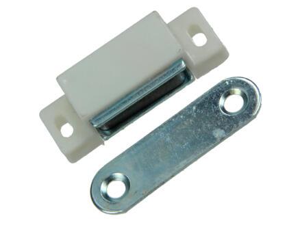 Mack Loqueteau magnétique blanc 45mm 2 pièces